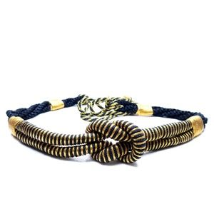 Accessories - Luxe Gold & Black Vtg. Love Knot Rope Belt